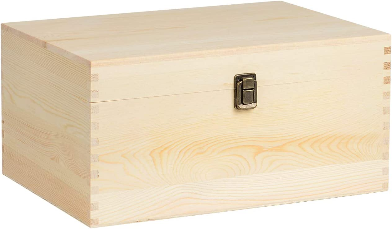 KINGCRAFT Extra Large Houston Mall Rectangle SEAL limited product Unfinished Box Wood Pine Natural