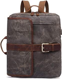 Mens Bag Hiking Travel Rucksack College Briefcase Satchel Shoulder Bag Mens Large Vintage Canvas Backpack School Laptop Bag High capacity
