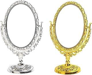 BESPORTBLE Miroir de table vintage pour maquillage - Doré