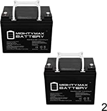 Mighty Max Battery 12V 35AH INT Battery Replaces Interstate DCM0035 Wheelchair - 2 Pack Brand Product