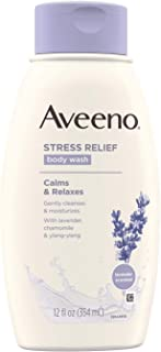 Aveeno Active Naturals Stress Relief Body Wash with Lavender, Chamomile & Ylang-Ylang, 12 Ounce (Pack of 3)