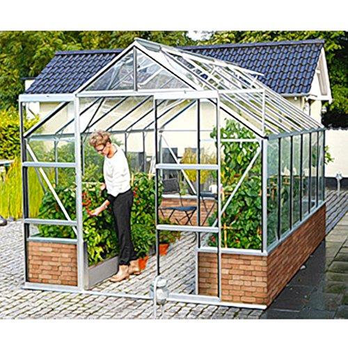 Cassandra 11500 Alu-Gewächshaus schwarz ESG Wintergarten 11,5 m² für Mauersockel