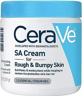 Cerave SA Cream   19 oz   Renewing Salicylic Acid Body Cream for Rough & Bumpy Skin   Fragrance Free