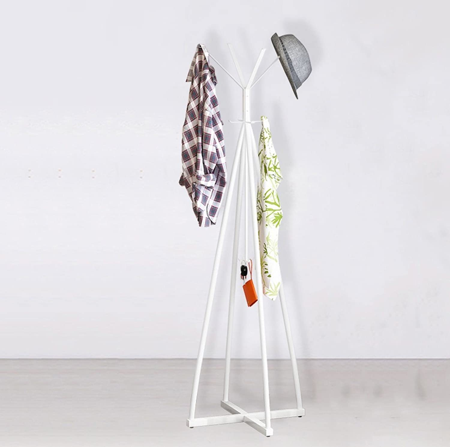 Clothes Hangers Fashion Hangers Rusty Creative Clothes Racks (color   White)