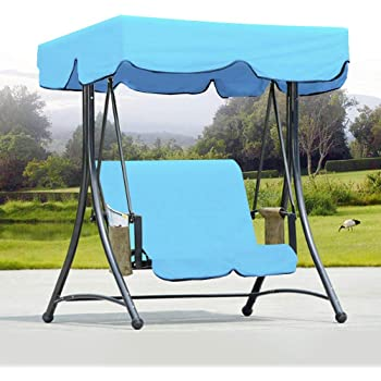 Heavy Duty Counter Stools, Dhtomc Canopy Swing Garden Bench Hammock Canopy Waterproof Top Cover Sun Protection 2 Seater Chair Cover Blue For Garden Patio Outdoor Seater Amazon De Kuche Haushalt