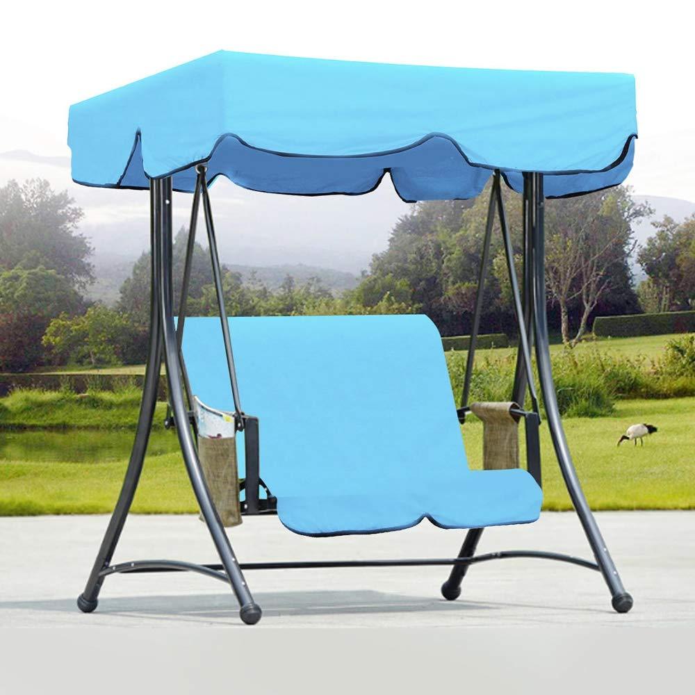 Cxraiy-HO Columpio de Jardín Toldo + Funda De Asiento 2-Persona Techo Impermeable Al Aire Libre De Toldo For Oscilación del Jardín Dosel Banco Hamaca (Color : Blue, Size : One Size): Amazon.es: