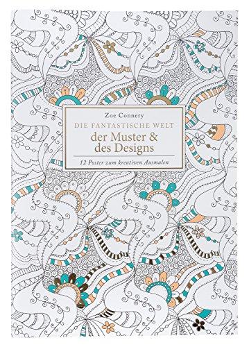 Idena 68139 - Libro para Colorear para Adultos, diseño y diseños, 12 Hojas, para Crear Obras de Arte Creativas, como compensación para la Vida Cotidiana y para el Ocio y Las Vacaciones