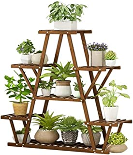 MultiTier Wooden Plant Stand Step Shelf Flower Shelving Unit Pot Indoor Outdoor