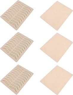 Lurrose 6Pcs Inkless Dupla Face Prática Para Capas De Silicone Para A Prática de Maquiagem Permanente Sobrancelha Sobrance...