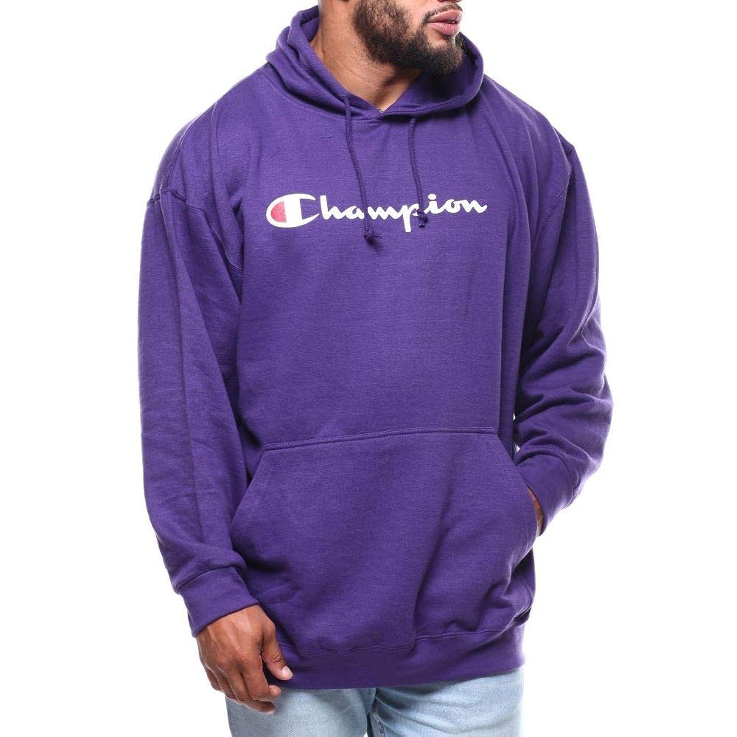 フェンス接地マッシュ(チャンピオン) Champion メンズ トップス パーカー p/o script printed logo hoodie (b&t) [並行輸入品]