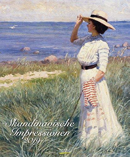 Skandinavische Impressionen 203419 2019: Großer Kunstkalender. Hochwertiger Wandkalender mit Werken von Künstlern aus Skandinavien. Format: 45,5 x 55 cm, Foliendeckblatt
