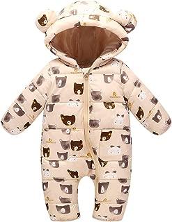 Baby's Winter Hooded Bodysuit Warm Snowsuit Jumpsuit 0-24 Months