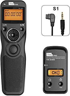 Wireless Shutter Release for Sony, Pixel TW-283 S1 Shutter Timer Remote Control, for Sony DSLR Cameras, Replaces Sony RM-S...