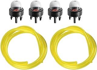 Hipa (Pack of 4 Primer Bulb + Fuel Line for Husqvarna Trimmer Weedeater 123L 225 232L..
