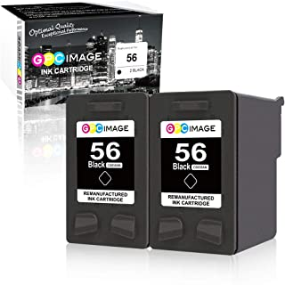 GPC Image Remanufactured Ink Cartridge Replacement for HP 56 C6656AN to use with Deskjet 5650 5850 5150,Officejet 4215 5610 6110,Photosmart 7150 7260 7350 7960,PSC 2510 1210 Printer Ink (2 Black)