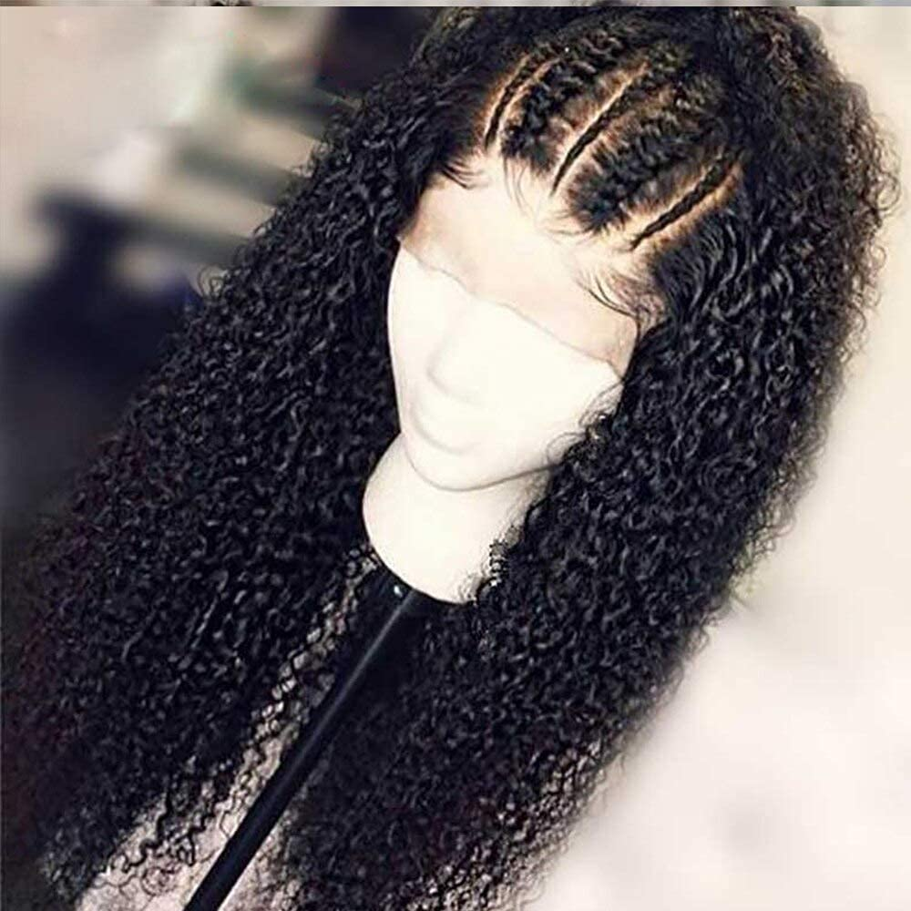 ZHFRC Curly Full Lace Hair Wigs Women 5 ☆ very popular Plu Black Pre Topics on TV for Glueless