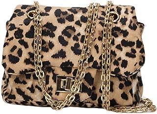 Little Girls Toddlers Crossbody Purse Leopard Pattern Shoulder Bag Handbag with Chain Strap