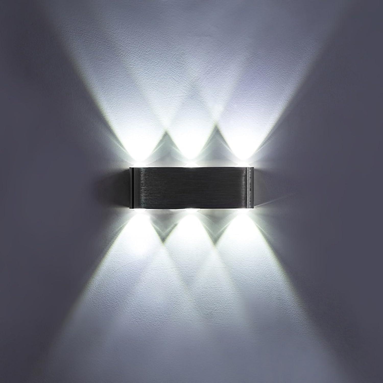 QQB Auenleuchte Wandleuchte Einfache LED Aluminium Wandleuchte Schlafzimmer Nachttisch Wandleuchte Wohnzimmer Flur Treppe Wandleuchte Weilicht Engineering Lampe (Farbe   A)