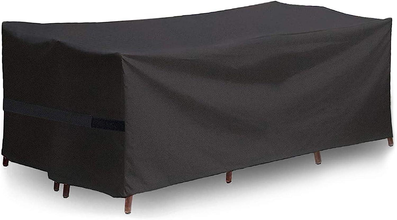 UKEER Funda para Muebles de jardín Funda Protectora Muebles Impermeables Exterior Anti-UV Protección Cubierta de Muebles de Mesas 210D Oxford (213 x 132 x 74cm)