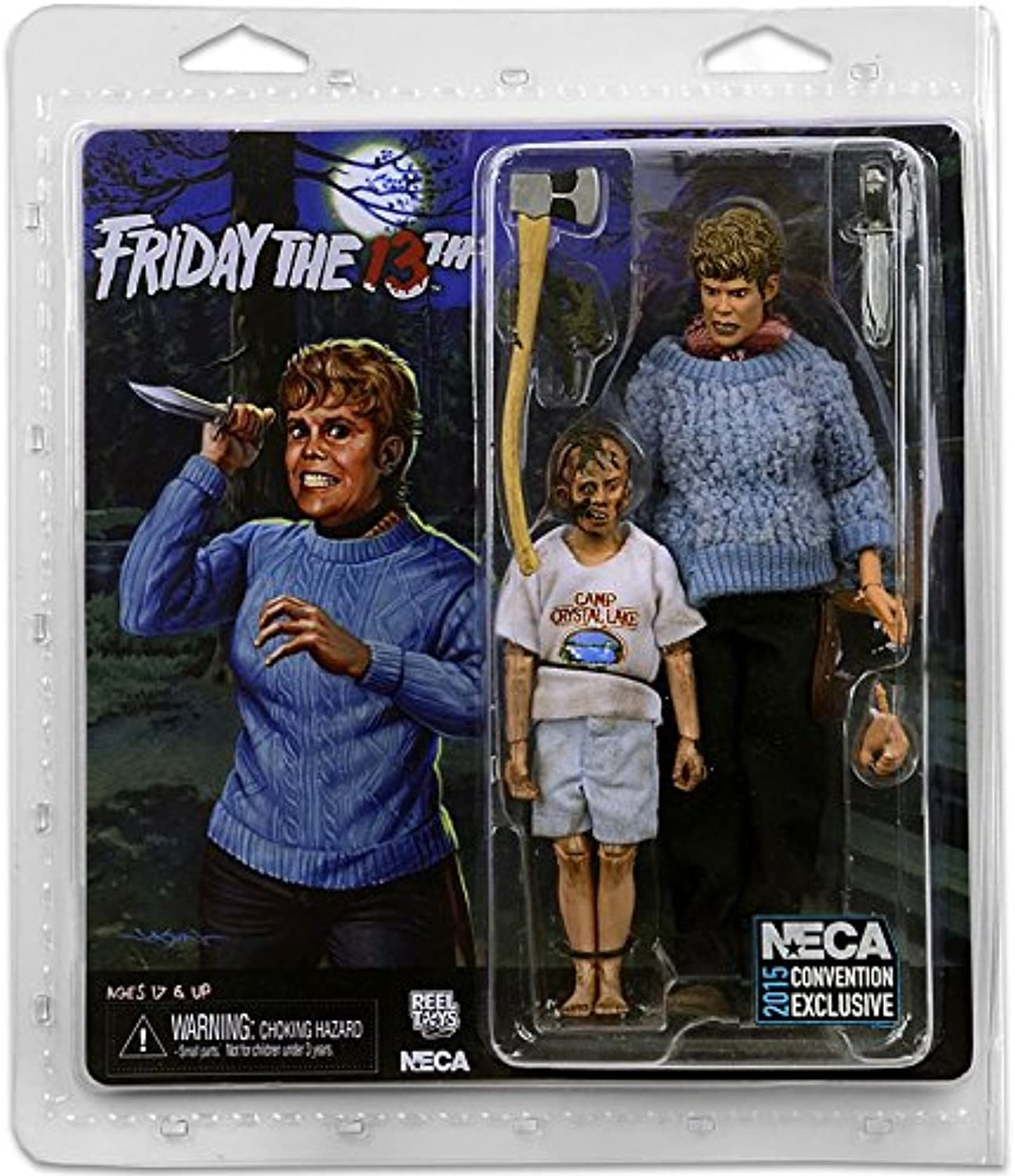 NECA Friday the 13th Pamela Voorhees & Young Jason Exclusive 8 Clothed Action Figure