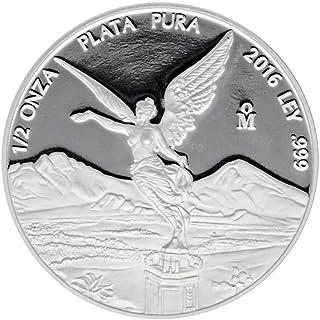2016 México 1/2 oz .999 plata libertad prueba (en cápsula)