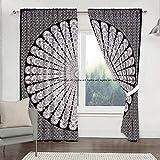 Bohemain - Juego de cortinas de mandala para cocina, cortinas y cenefas de...