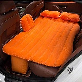 Cojín de descanso para cama de acampada, colchón hinchable, cojín para asiento trasero de coche, color naranja
