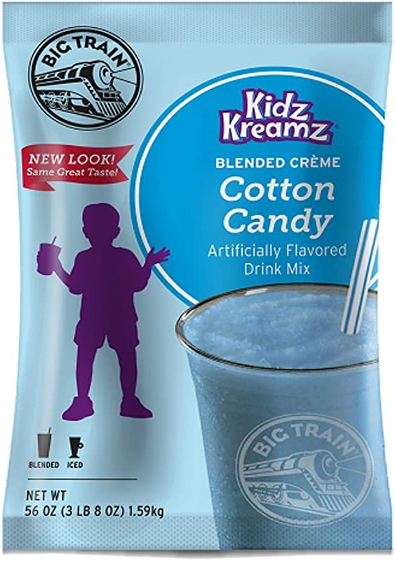 Big Train Blended Creme Kidz Kreamz Cotton Candy 3 5 Pound