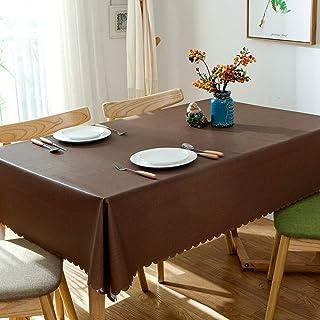 WESDOO Nappe Table rectangulaire Nappes Partie de Linge de Table Lavable Table Tissu PVC Nappe Table de Jardin Tissu Nappe...