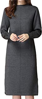 Suéter De Mujer Vestido Informal De Manga Larga Jersey De Mujer La Moda Suéter De Lana Jersey para Mujer,Gris,M