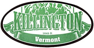 CafePress Killington Vermont Ski Resort 3 Patches Patch, 4x2in Printed Novelty Applique Patch
