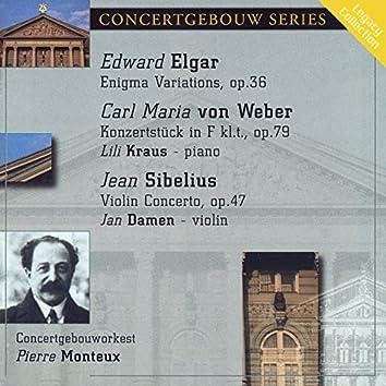 Elgar: Enigma Variations - Von Weber: Konzertstuck - Sibelius: Violin Concerto