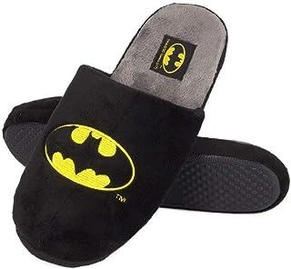 soxo Pantoufles Homme Batman | Taille 41-46 | Chaussons Confortable d'intérieur | Semelle élastique Antidérapante