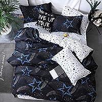 ホームアクセサリー寝具セットブラックハートスタイル寝具セットベッドリネンシングルダブルベッドシーツ枕カバー羽毛布団カバーセットZLC17クイーンカバー200by230