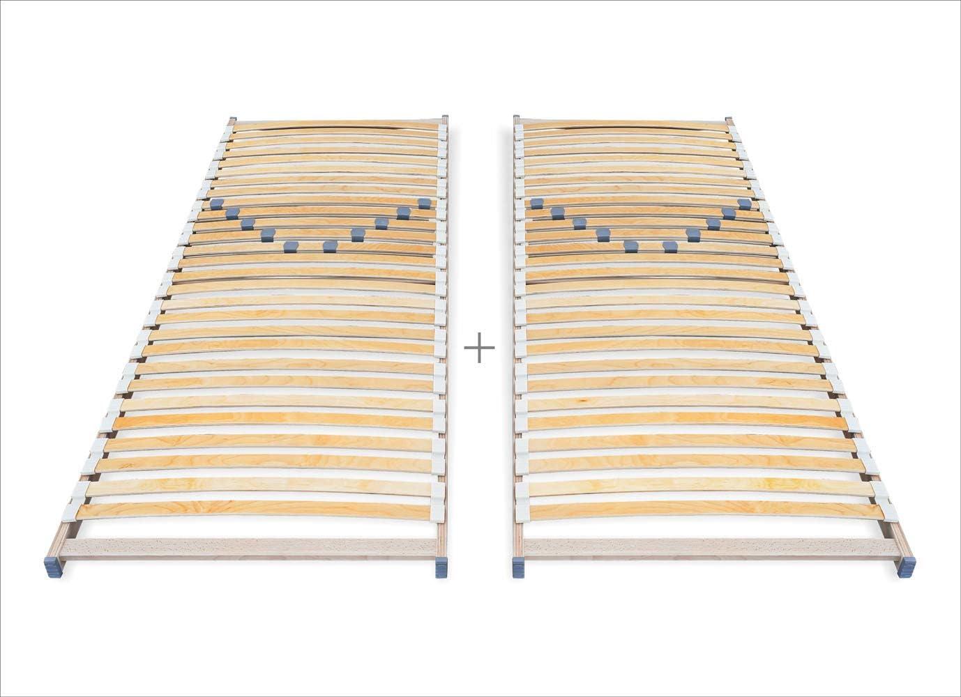 80 x 200 100 x 200 90 x 200 Rete a doghe con regolazione di durezza ECOFORM 90 x 200 cm dal produttore