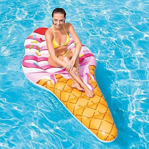 Toyland Lilo Cono Gelato Gigante Lilo Estivo da Spiaggia e Piscina 2,2 m x 1,07 m (88 'x42)