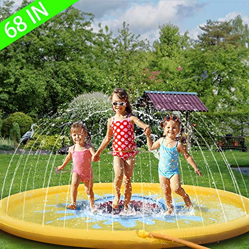 "Sprinkler for Kids 68"" Outdoor Water Toys for 2 3 4 5 6 7 8 Year Old Boy Girl Sprinkler Pool for Kids Toddler Baby Sprinkler-Splash-Pad--Water-Toys"