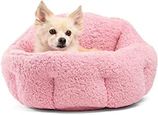 """Best Friends by Sheri OrthoComfort Deep Dish Cuddler (20x20x12"""") - Self-Warming Cat and Dog Bed, Pink"""