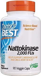 Doctor's Best Nattokinase 2,000 Fu, Non-GMO, Gluten Free, Vegan, Supports Cardiovascular and Circulatory Health, 90 Veggie Caps