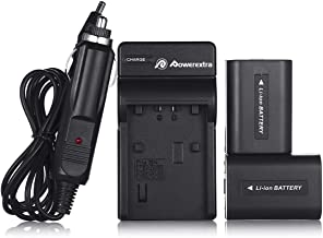 Powerextra 2 Pack Replacement Sony NP-FH50 Battery and Charger for Sony Cyber-Shot DSC-HX100V, DSC-HX200V, DSC-HX1, HDR-TG5V, Alpha DSLR A230, DSLR A290, DSLR A330, DSLR A380, DSLR A390