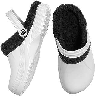 Warm Indoor Outdoor Slippers - Cozy Light-Weight Clogs/Garden Sandals White
