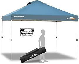 EzyFast Antipool Canopy for Rain or Sunshine, Portable 12 x 12 Large Size Pop Up Canopy, Patented Instant Shade Tent with Wheeled Carry Bag for Beach or Sports
