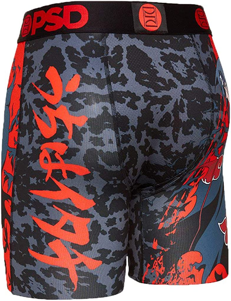 PSD Underwear Men's Naruto Itachi Uchiha Printed Boxer Brief (Black/Naruto Itachi Uchiha, xx_l)