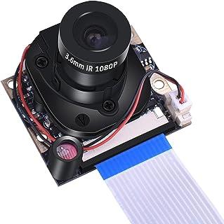 Kuman カメラモジュール Raspberry Pi用 日中/夜間モード ズームレンズ 5MP 1080p 感光チップOV5647 Raspberry Pi 4B Model B/B+ A+ RPi 3/2/1に交換 ラズベリーパイSC25