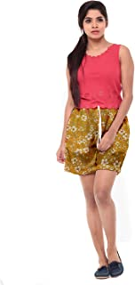 EASY 2 WEAR ® Women's Printed Drawstring Shorts - Long and Loose (S to 4XL)