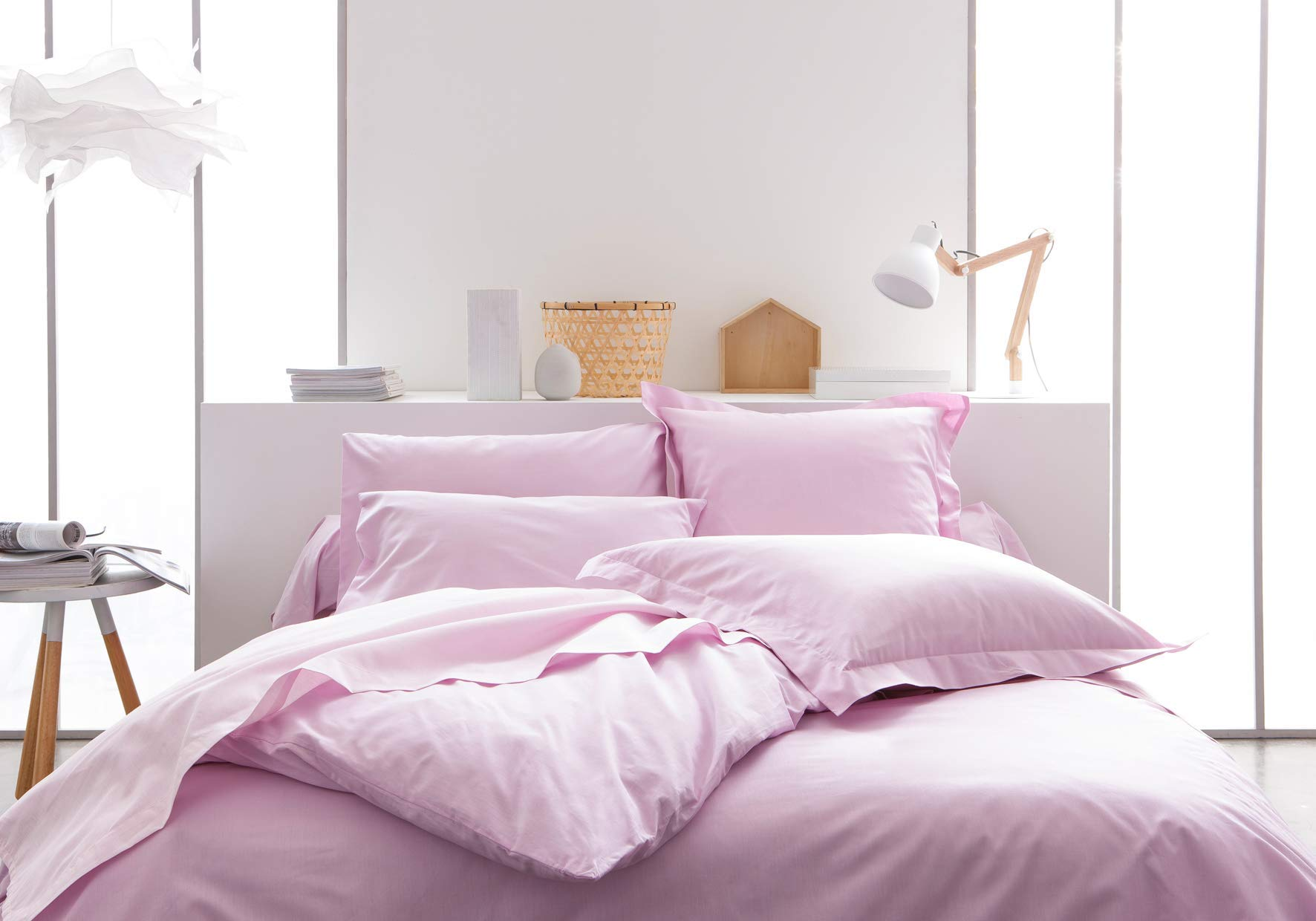 TODAY Sábana Bajera-90x190 cm Color Rosa, 100% algodón, 190x90x0.1 cm: Amazon.es: Hogar