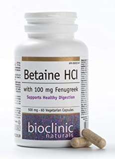 Bioclinic Naturals - Betaine HCL with Fenugreek 60 Veggie Capsules