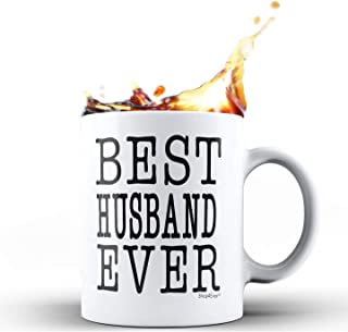 Shop4Ever Anniversary Gift for Husband Best Husband Ever Wedding Hubby Gift Ceramic Coffee Mug Tea Cup