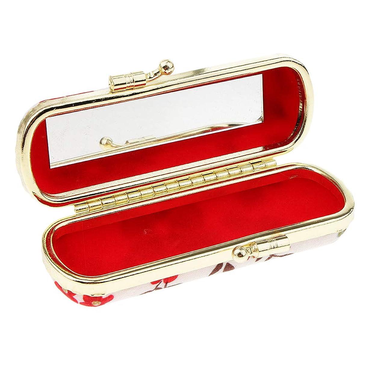 立派な週末くToygogo 口紅ケース 収納ボックス リップグロスケース リップスティックケース 鏡付き 7タイプ選べ - レトロE