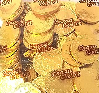 CrazyOutlet Pack - Funtasty Milk Chocolate Gold Coins Candy, Large 1.5 Inch, Chocolate Candy, 1 lb